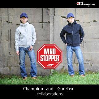 championチャンピオンリバースウィーブゴアテックス(ウィンドストッパー)スエットパーカー防寒ジャケット登山用