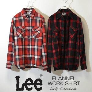 【30%OFF SALE セール】LEE FLANNEL WORK SHIRT リー フランネル チェックシャツ ワークシャツ 赤チェック リンクコーディナット LT0619-109 LT0619-209 返品交換不可