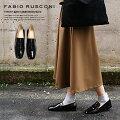 FabioRusconni【ファビオルスコーニ】F-3287/エナメルローファーが入荷♪/着脱簡単で履きやすい☆フラットシューズ好きにもおススメです!エレガントなローヒールパンプス/イタリア製/ぺたんこ靴