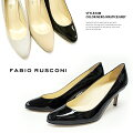 【FABIORUSCONI】ファビオルスコーニ#KIM一足はもっておきたいシンプルでベーシックなパンプス♪レディース/靴/パンプス/エナメル/黒/ブラック/ネイビー/ベージュ/7cmヒール/イタリア製