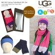 【安心正規】UGG【アグ/アグー】KIDS Carissa Colorblock Gift Set ニット帽&マフラー ギフトセット #K11181Cable Colorblock Hat w/Pom&Scarf