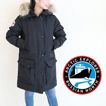 ARCTIC EXPLORER【アークティックエクスプローラー】CHILLレディース アウター ダウンジャケット ダウンコート 大きいサイズ ミリタリー 黒