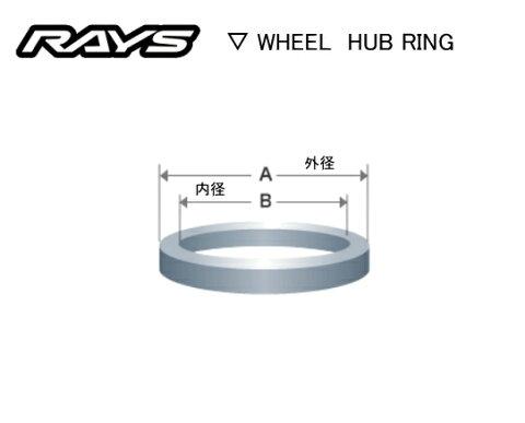 ☆正規品☆RAYS/レイズ☆日本製☆レイズホイール専用ハブセントリックリング1台分4個セットサイズ:外径73.1φ/内径67.1φランサーエボリューション、アテンザ・RX-8・CX-5等
