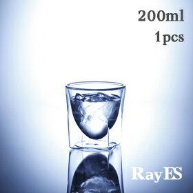 RayES/レイエスダブルウォールグラスRDS-002300ml1個セット