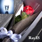 [フラワー付ギフト] RayES/レイエス ダブルウォールグラス RDS-002 300ml バラ・プリザーブドフラワー付[1個入り・ラッピング・カード] 【あす楽】【ギフト】【結婚祝い】【誕生日プレゼント】【退職祝い】【楽ギフ_包装選択】