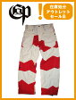 COMMAND 9 PROJECT RBV PANTS カラー WHITE×RED 【コマンドナイン パンツ】【スノーボード ウェア】