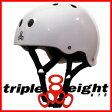 トリプルエイト ヘルメットスケートボード用 TRIPLE8 HELMET GLOSSY WHITE715005