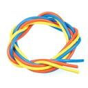 【ネコポス対応】イーグル(EAGLE)/EB-3220/シリコン銀コードセット・12G[ゲ-ジ](青、黄、橙各60cm)