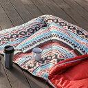 roomnhome ルームアンドホーム アズテック 寝袋 レッド キャンプ 就寝 テント コンパクト 室内兼用 中でも使える 寝袋 防寒(代引不可)【送料無料】