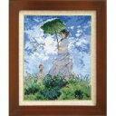 ししゅうキット 7215(オフホワイト) アートギャラリー 「日傘をさす女」モネ作【ポイント10倍】【inte_D1806】