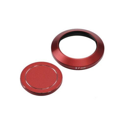 エツミ メタルインナーフード+キャップセット37mm(レッド) E-6467【ポイント10倍】