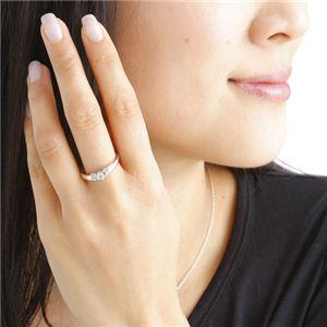 0.28ctプラチナダイヤモンドデザインリング15号