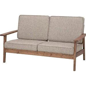 【ぬくもり家具】天然木オイル仕上げ2人掛けソファCFS-846【W141×D75×H78×SH38】
