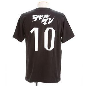 むかしむかし アニメコラボ!サッカーW杯日本代表応援Tシャツ 【10番 デビルマン】 ブラック M【ポイント10倍】