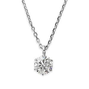 ダイヤモンドネックレス一粒プラチナPt9000.1ctダイヤネックレス6本爪HカラーI1クラスGood中央宝石研究所ソーティング済み【ポイント10倍】