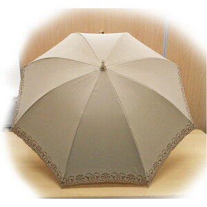 テイジンナノフロント使用遮熱パラソル(晴雨兼用傘)ベージュ
