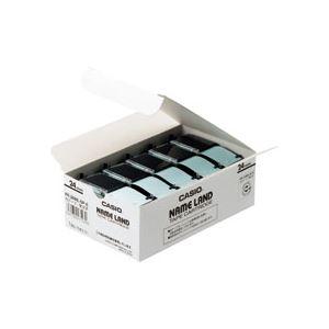 (まとめ)NAMELAND(ネームランド)スタンダードテープ24mm白(黒文字)5本入×6パック【ポイント10倍】