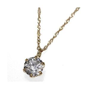 K18YG0.3ctダイヤモンドペンダント