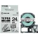 (まとめ) キングジム テプラ PRO テープカートリッジ 強粘着 24mm 透明/黒文字 ST24KW 1個 【×3セット】