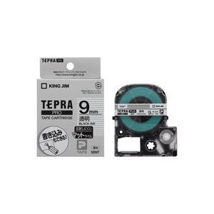 (業務用50セット)キングジムテプラPROテープマット透明/黒文字SB9T×50セット【ポイント10倍】