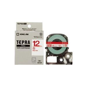 (業務用50セット)キングジムテプラPROテープSS12R白に赤文字12mm×50セット【ポイント10倍】