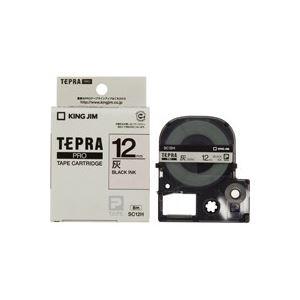(業務用50セット)キングジムテプラPROテープSC12H灰に黒文字12mm×50セット【ポイント10倍】