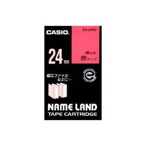 (業務用30セット)カシオCASIOラベルテープXR-24RD赤に黒文字24mm×30セット【ポイント10倍】