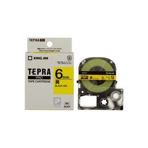 (業務用50セット)キングジムテプラPROテープSC6Y黄に黒文字6mm×50セット【ポイント10倍】