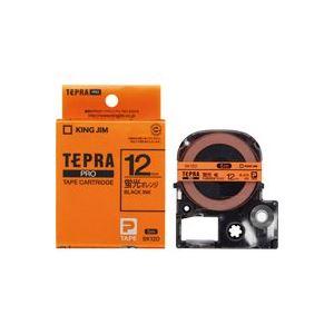 (業務用50セット)キングジムテプラPROテープSK12D蛍光橙に黒文字12mm×50セット【ポイント10倍】