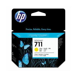 (まとめ)HP711インクカートリッジイエロー29ml/個染料系CZ136A1箱(3個)【×3セット】【ポイント10倍】