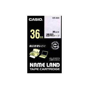 (業務用20セット)カシオCASIO透明テープXR-36X透明に黒文字36mm×20セット【ポイント10倍】