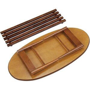 折れ脚テーブル折りたたみ楕円形木製(ウォールナット)MT-6922ブラウン【】【ポイント10倍】