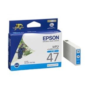 (業務用40セット)エプソンEPSONIJインクカートリッジICC47シアン×40セット【ポイント10倍】