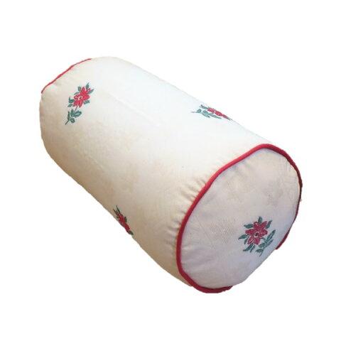 ボルスタークッション/腰枕 【15R×30cm レッド】 洗えるカバー 『オロペサ』