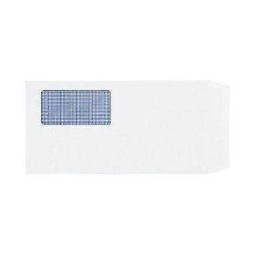 (まとめ) TANOSEE 窓付封筒 裏地紋付 長3 80g/m2 ホワイト 1パック(100枚) 【×10セット】