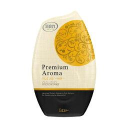 (まとめ)エステー お部屋の消臭力 PremiumAroma 柚黄 400ml 1個 【×5セット】