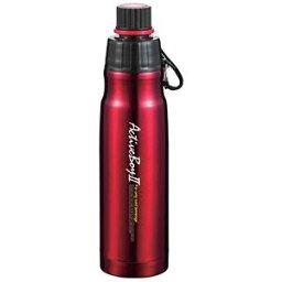 【24個セット】 スポーツボトル/水筒 【500ml レッド】 ステンレス真空断熱 魔法瓶構造 保冷専用 アクティブボーイ2【送料無料】
