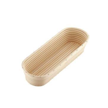 ムラノ 籐製醗酵カゴ 小判型 ロング WHT3001 【ポイント10倍】