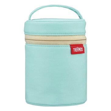 THERMOS サーモス スープジャーポーチ ライトブルー RES-001 LB スープジャーカバー 保温 保冷 背面ポケット付
