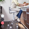 ガス圧昇降式回転チェア キャスター付 キッチンチェア 昇降式 カウンターチェア(代引不可)【ポイント10倍】【送料無料】【smtb-f】