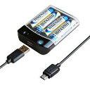 カシムラ 電池式充電器USB1P 1Amicro50cm AJ-...