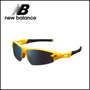 NewBalance ニューバランス スポーツサングラス NB08033 C-4 フレームカラー:イエロー/ブラック レンズカラー:ブルーミラー 可視光線透過率:15%