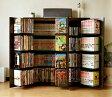 DVDで最大400収納 書棚ストッカー ダークブラウン (日本製)(FM70DBR)(代引き不可)【送料無料】【ポイント10倍】