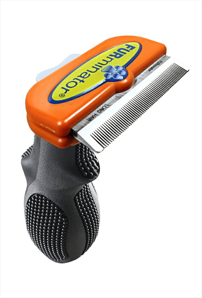 FURminator(ファーミネーター) 中型犬 M 長毛種用 ペット ブラシ 抜け毛対策 ワンプッシュでムダ毛を簡単処理