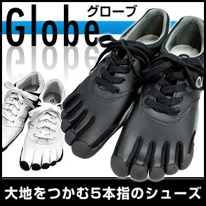 5本指 シューズ ウォーキング Globe グローブ 5本指シューズ m-1015 White×Black w-1010 White×R...