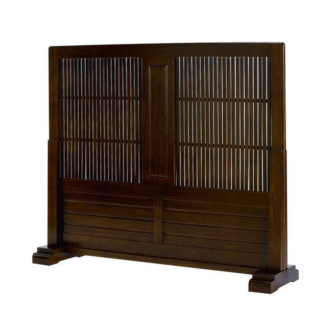 和室 リビング 折畳み 二連 玄関 目隠しパネル 2連 天然木 麻素材 置型 衝立 幅53×高さ135cm 自立式 パーテーション 洋室 間仕切り SD−7202