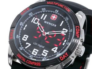 【ポイント10倍】【送料無料】【ラッピング無料】ウェンガー WENGER 腕時計 LED ノーマッド 704...