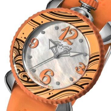 ガガ ミラノ レディ スポーツ レディース 腕時計 702005 ホワイトパール/オレンジ【送料無料】【ポイント10倍】【楽ギフ_包装】