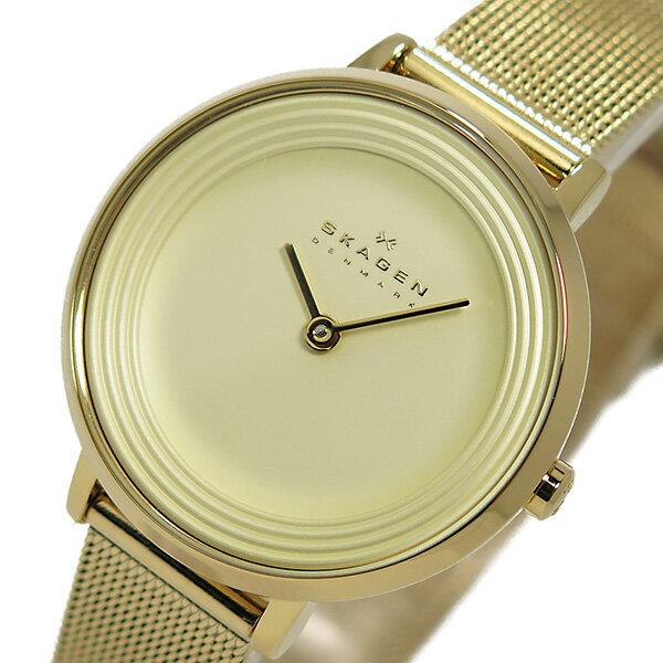 スカーゲン SKAGEN クオーツ レディース 腕時計 時計 SKW2212 ライトゴールド【ポイント10倍】