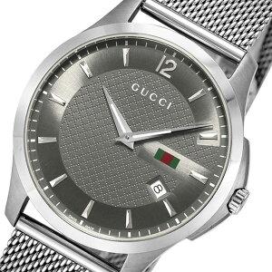グッチGUCCIGタイムレスクオーツメンズ腕時計YA126315グレー【送料無料】【ポイント10倍】【_包装】